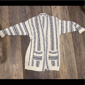 GAP blue and white blanket cardigan